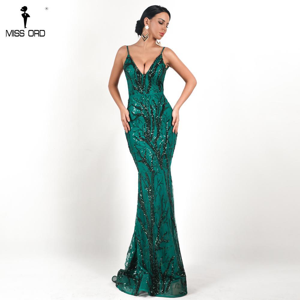 664c12e842f66 Compre Missord 2018 Mujeres Sexy Profundo V Fuera Del Hombro Vestidos De Lentejuelas  Mujer Sin Espalda Elegante Maxi Vestido De Fiesta Vestdios FT18690 1 A ...