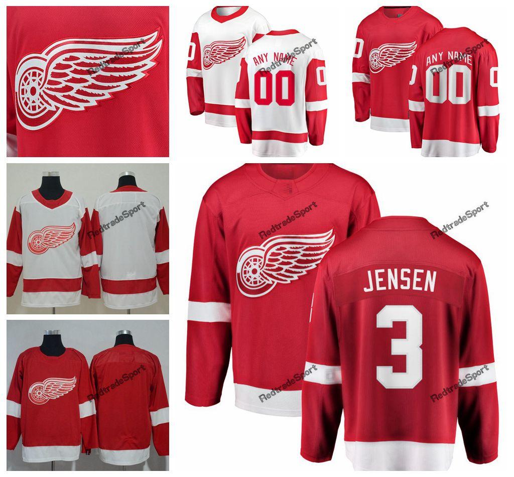 ffc52b8a 2019 Detroit Red Wings Nick Jensen Hockey Jerseys Mens Custom Name ...