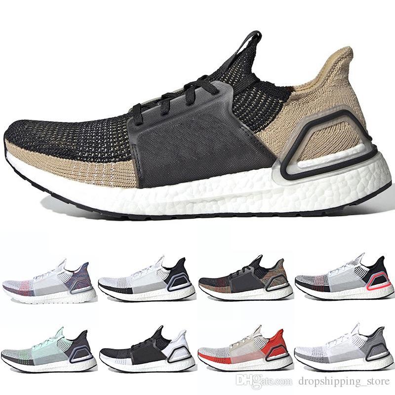 a24657843 2019 2019 Ultra Boost 19 Men Women Running Shoes Ultraboost Laser Red Oreo  Core Black Dark Pixel Refract New Casual Sport Sneaker Size 5 12 From ...