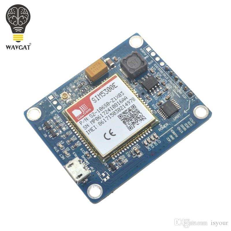 Freeshipping SIM5300E 3G module Development Board Quad-band GSM GPRS GPS SMS with PCB Antenna