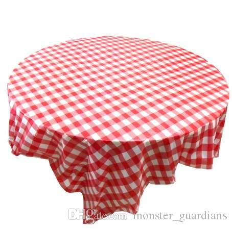 Red Gingham Plastic Disposable Wipe Check Tablecloth Party Outdoor