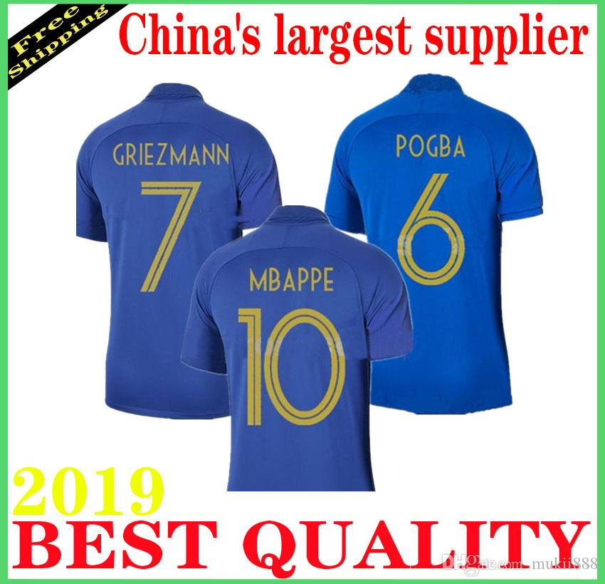 eb420f1a1 2019 2019 France Soccer Jersey 100th Anniversary 100 Years Old French New  Jerseys 2018 World Cup Football Jersey Team Griezmann MBAPPE Shirt From  Mukii888, ...