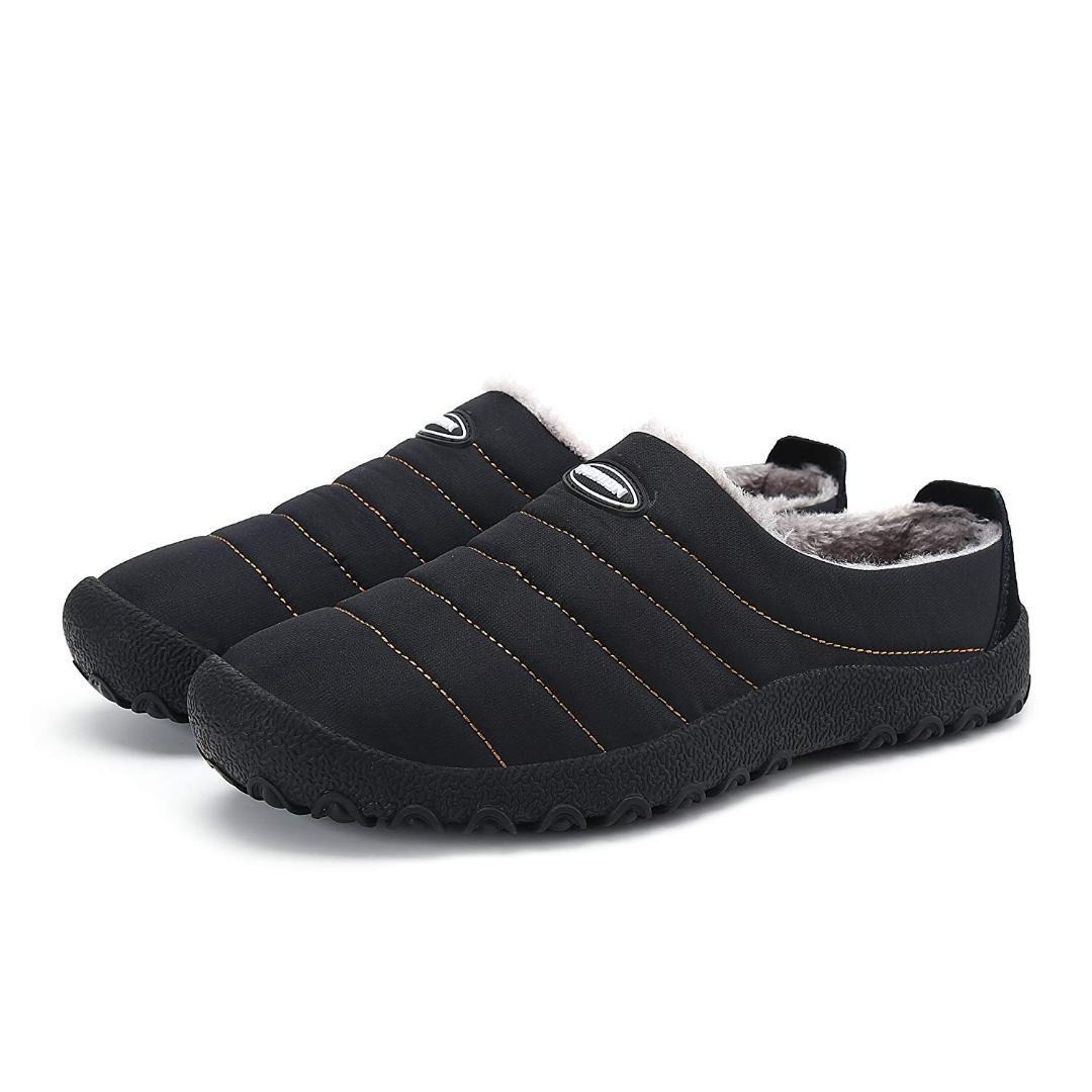 9ea10b01f AUAU Men'S Women'S Anti Slip Moccasin Loafer Winter Warm Low Top ...