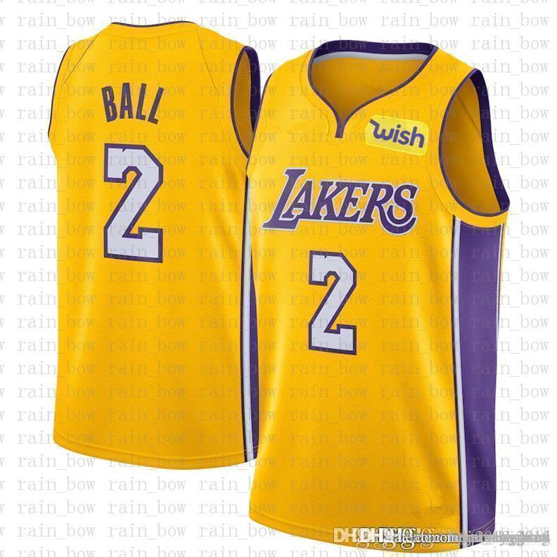 935c0404c09  9.99 Cheap SALE Top 2016 Mens Lonzo 2 Ball Los Angeles JERSEYS ...