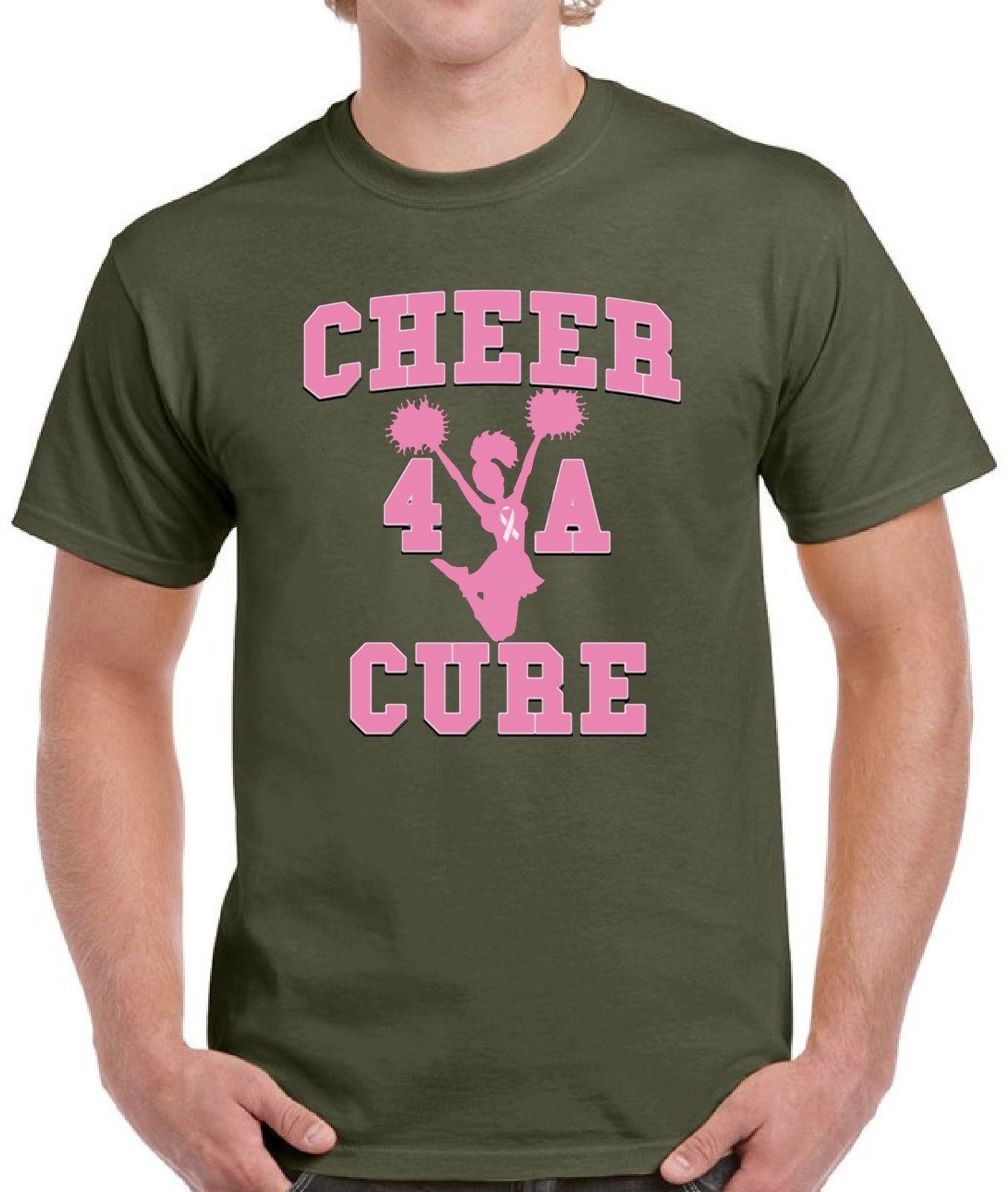 1ee6e4d9f Breast Cancer Shirts Tops T Shirts For Men Men'S Cheer 4 A Cure Funny  Unisex Casual Buy Shirt Ti Shirt From Fastshipdirect, $12.96| DHgate.Com