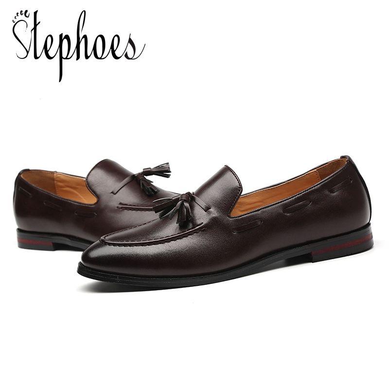 En De Luxe Stephoes Acheter Mocassins Cuir Mode Hommes Marque qz6zW0