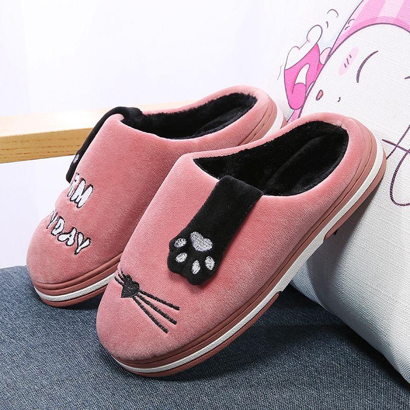 abeb3564293c4d Acheter Accueil Pantoufles 2018 Nouvelles Femmes Pantoufles En Coton  Chaussure Femme Pantoufles D intérieur Pour Femmes Chaussures Mode  Chaussures De Dessin ...
