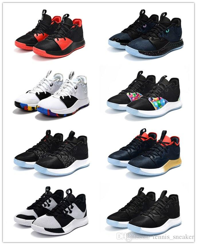 2b1cdd5ddda8 2019 2019 NEW Paul George PG 3s EP Basketball Shoes Cheap PG3 Starry Blue  Orange Red Black Sports Sneakers Size 40 46 From Tennis sneaker