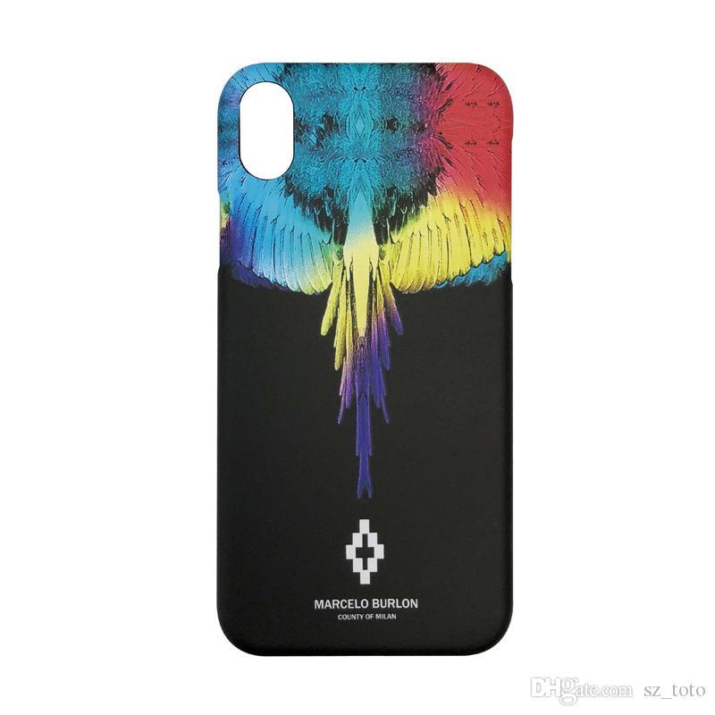 prix raisonnable joli design meilleure qualité YunRT New Wing marcelo burlon hard plastic cover case for apple iphone 6 6S  S plus 7 7plus 8 8plus XS XR X MAX snake phone couqe capa