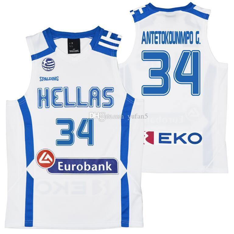 c945c786076 2019 Team Hellas Greece Eurobank Giannis ANTETOKOUNMPO G. Retro Classic Basketball  Jersey Mens Stitched Custom Number And Name Jerseys From Yufan5