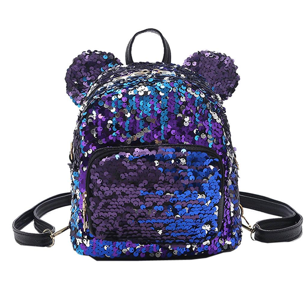 bb769d67bf Mini Backpack Women Small Rucksack Fashion Sequins School Satchel Girls  Student Travel Shoulder Bag Mochilas Mujer