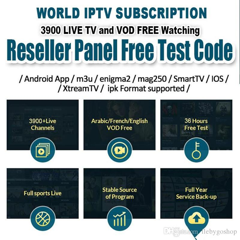 IPTV Account for Android Smarter TV Box 4K with abonnement IPTV 30  countries thousands tv channels IPTV Subscription France Portugal Arabic