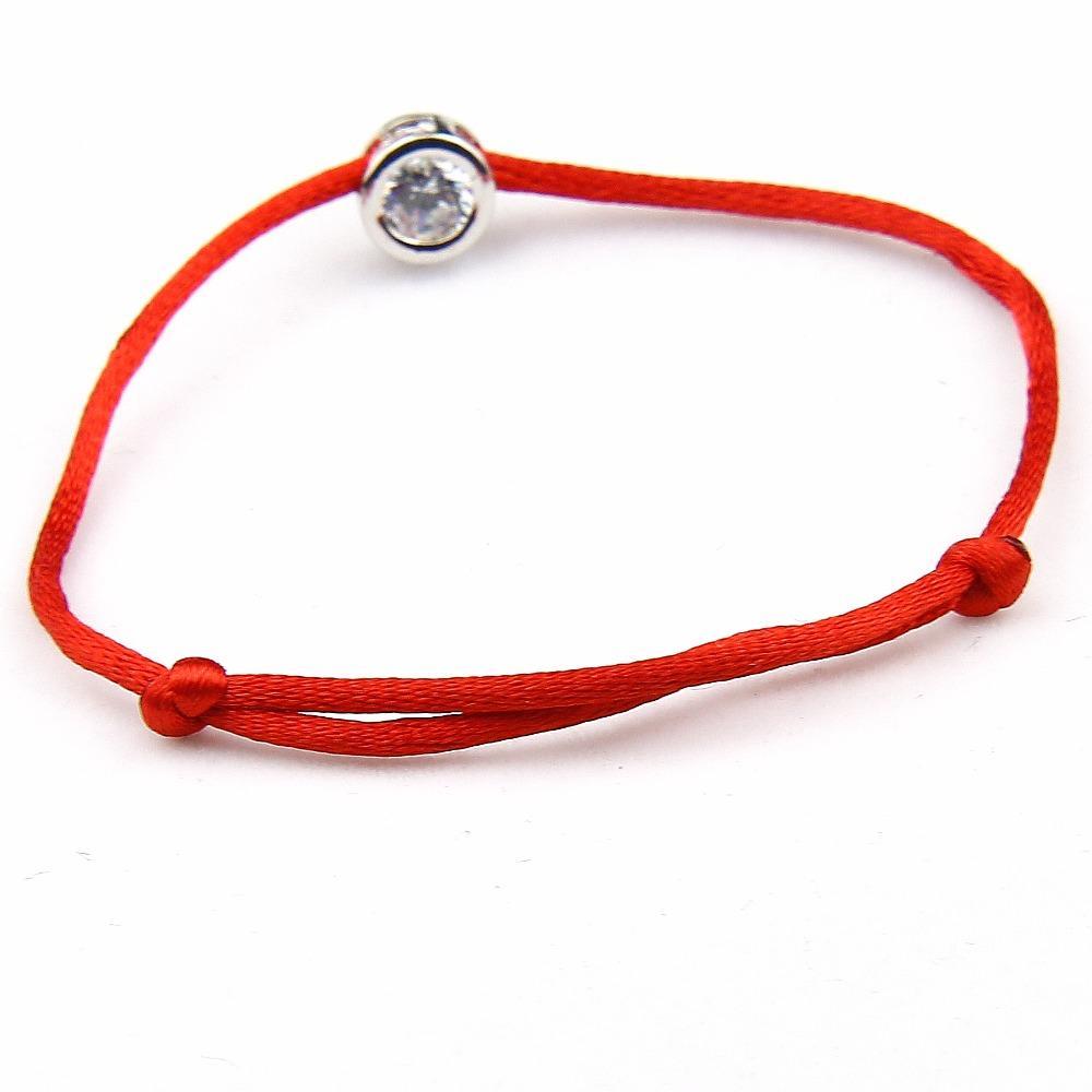 Moda CZ pulsera de cristal Femme Shining Red String Charm pulseras joyería afortunada para mujeres hombres niñas niños ajustable