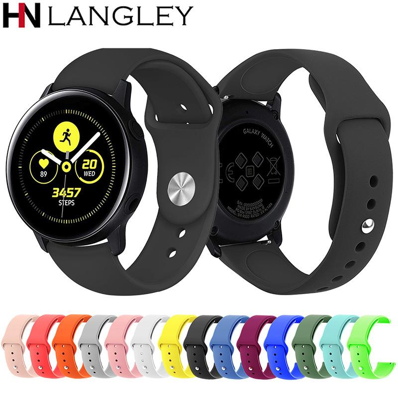 33836709ee6 Silicone Sports Watch Band For Samsung Galaxy Watch Active 40mm ...