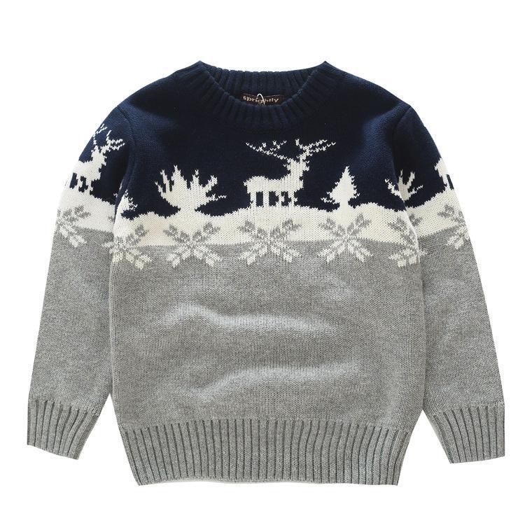 4ceddf5b7d89 Boys Sweaters Knitting Pattern Casual Boys Pullovers Christmas Boy ...