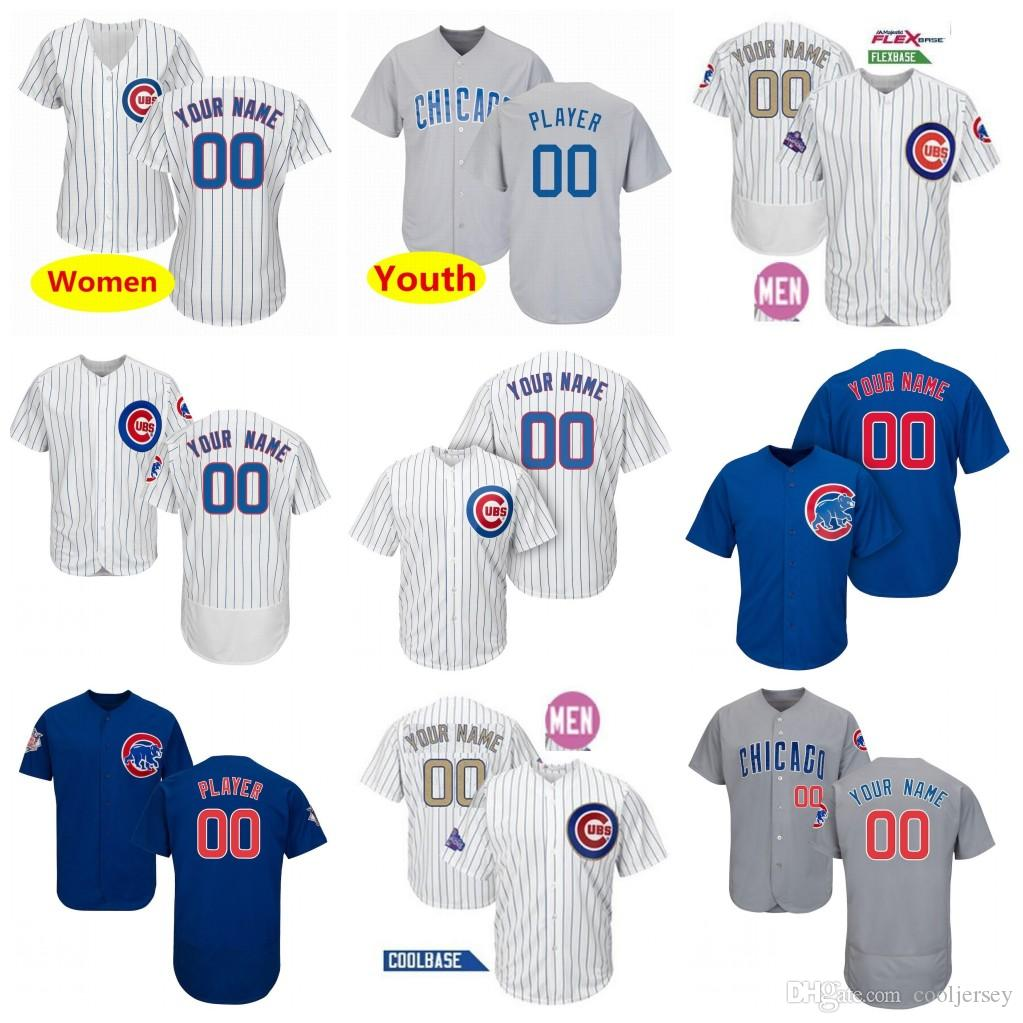 1a630480c Custom Chicago Cubs Jersey Bryant Javier Baez David Ross Kyle David ...