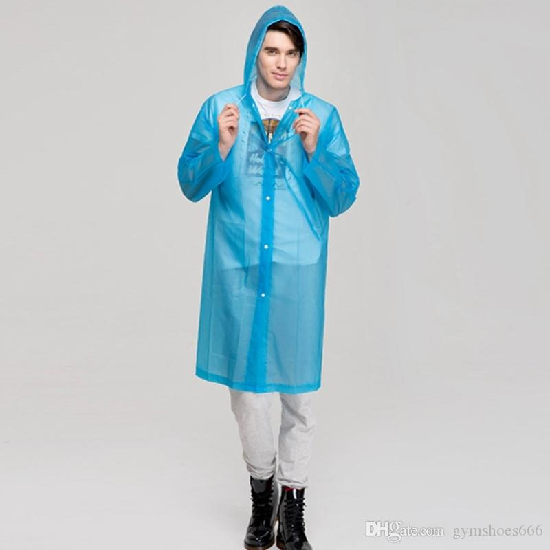 Raincoat for Women Men Transparent Women Rainwear Travel Outside Waterproof Rain Coat Raincoat Men Poncho Solid Color #319623