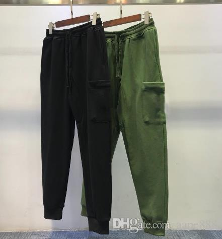Mens designer high quality pants cotton wild beam sports pants hip hop style high street trend trousers