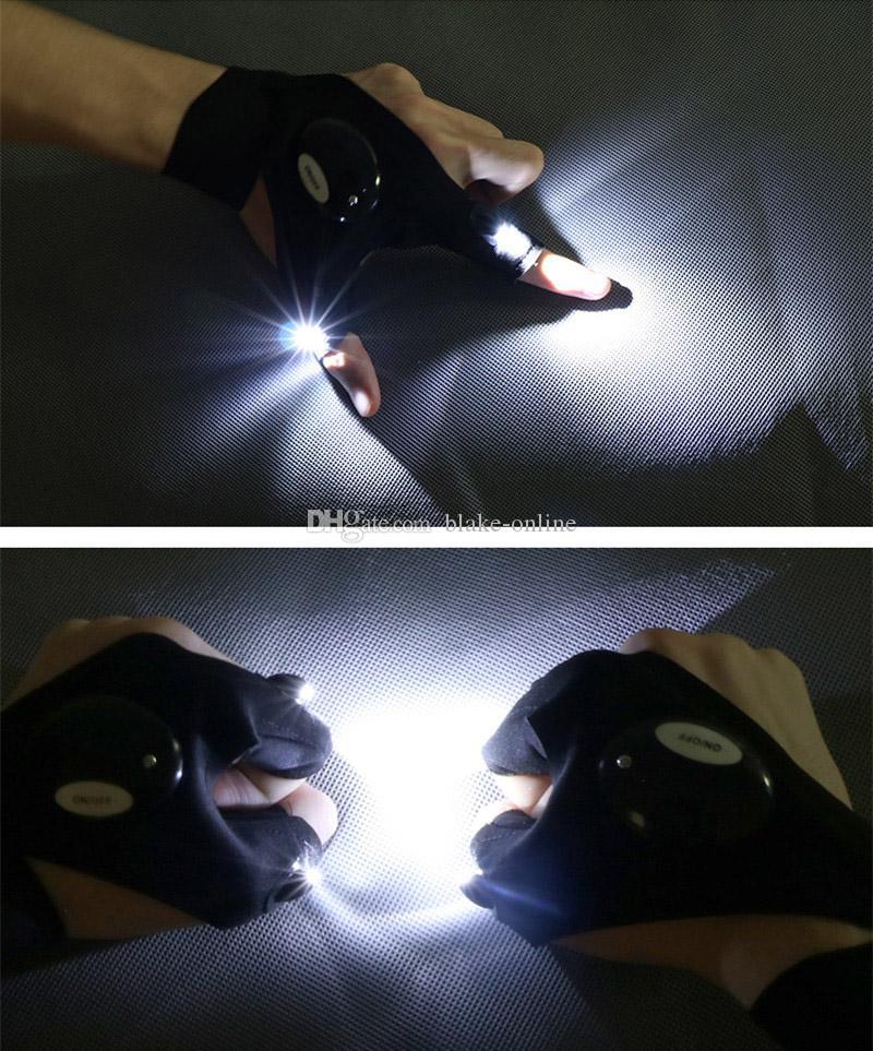 Auto-Reparatur-Finger-Handschuh-Nacht Auto-Motorrad-Reparatur-Werkzeug-Arbeit Im Freien Fischen Überlebens-Werkzeug Kreative Wandern LED-Beleuchtung Handschuhe