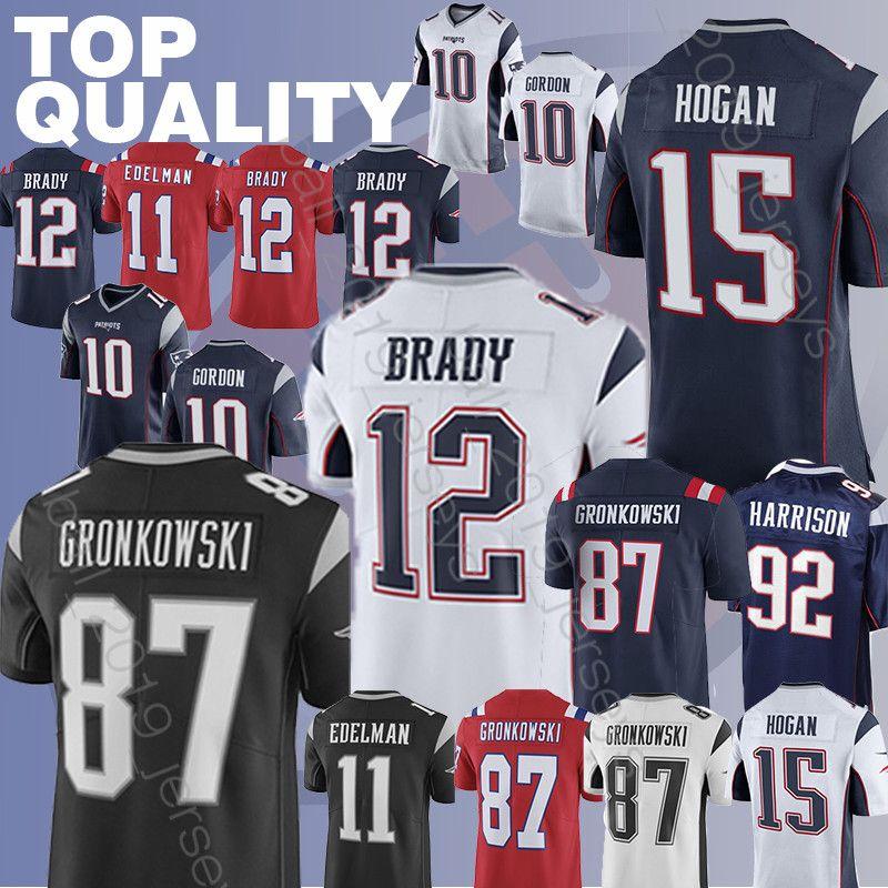 sale retailer b86ff 4e0ed Patriot jersey Tom 12 Brady 11 Julian Edelman super bowl 10 Jimmy Garoppolo  Chris 15 Hogan football jerseys