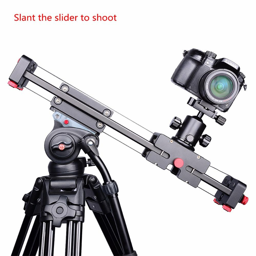 "Freeshipping Pro 19""/50cm Compact DSLR Camera Video Slider with Double Travel Distance Shoot Video Camera Track Dolly Rail Slider"