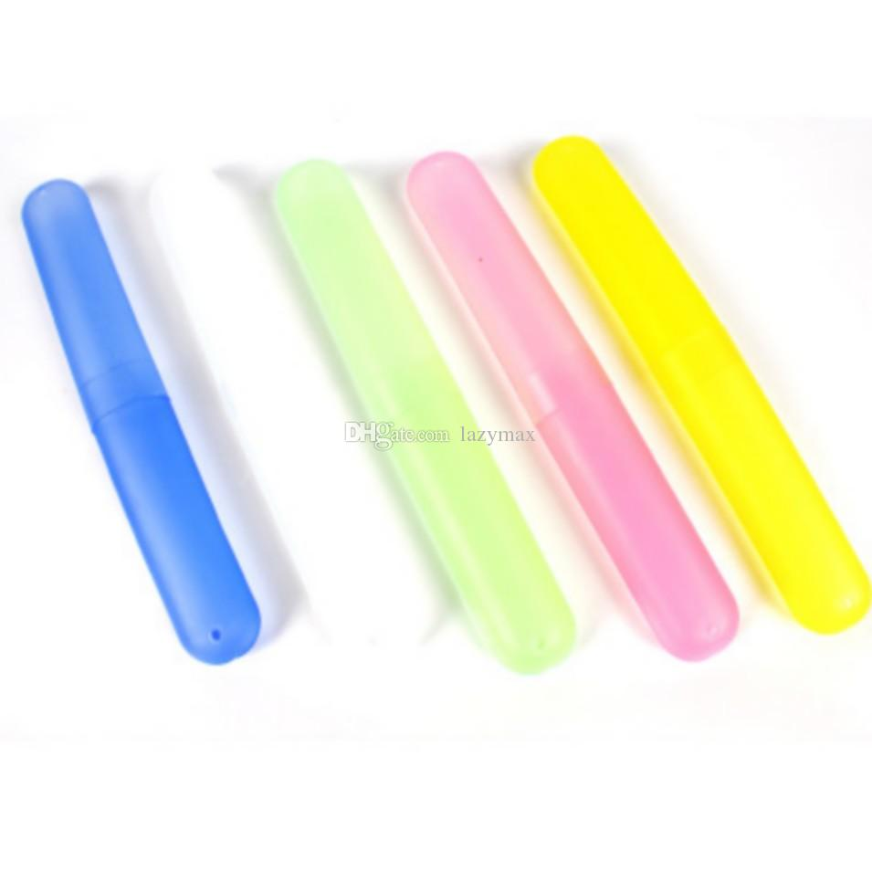 Toothbrush Holder Case Portable Candy Colors Travel-Toothpaste Protect Box C5M6