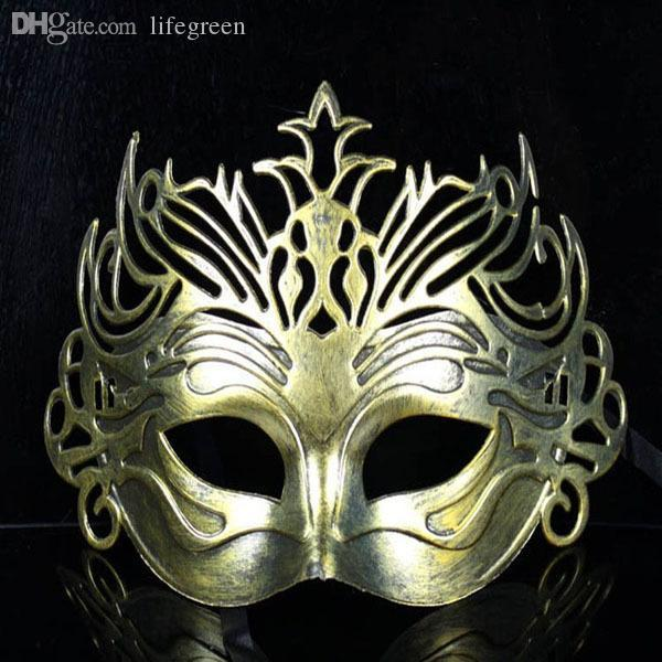 Wholesale-(10 pcs/lot) New Hot Sale Festive & Party Supplies Antique halloween masquerade party mask for men Imitation fighter crown