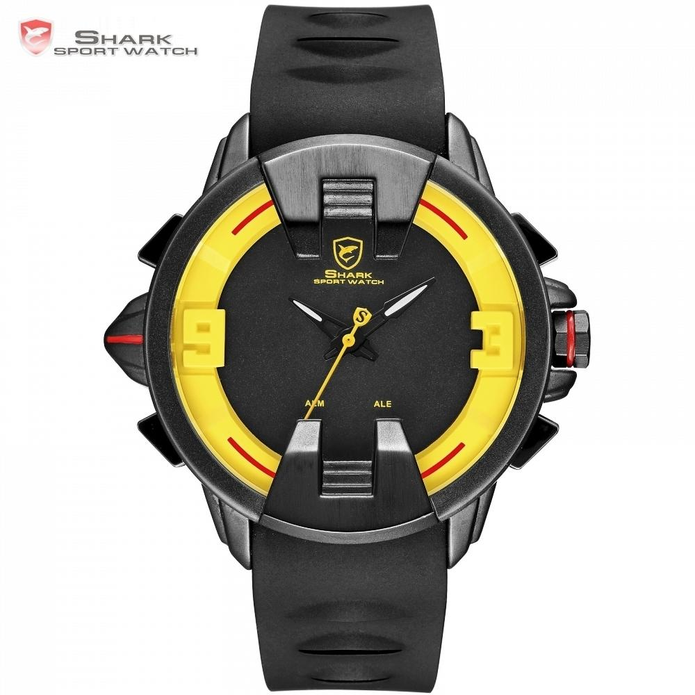 e8afbfa052e New Wobbegong Shark Brand Masculino Men Quartz Watches Black Case Silicon  Strap Relogio Men Hour Led Digital Sport Clock   Sh560 Y19021402 Watches  Sales ...