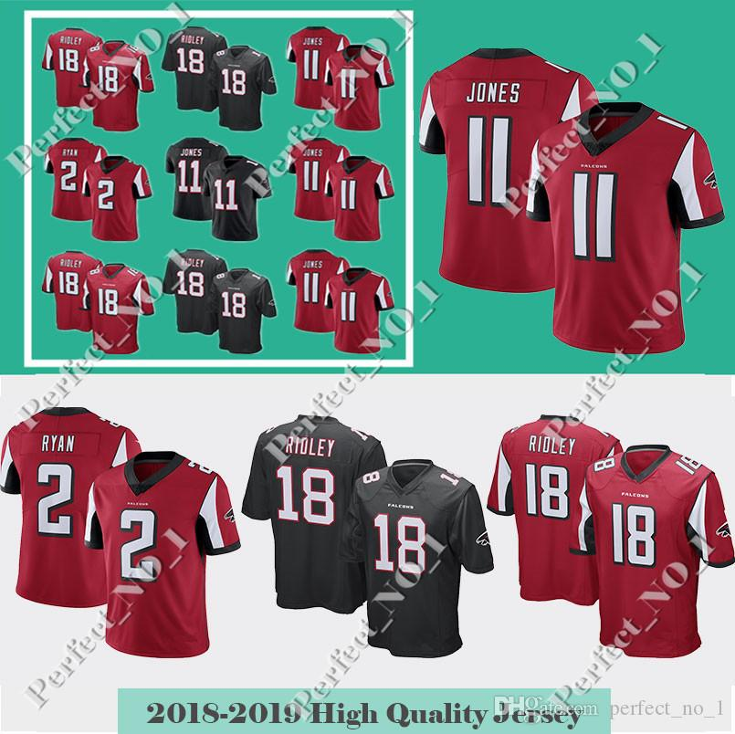 timeless design b4f89 f2a12 Men's Atlanta jersey Falcons 18 Ridley 11 Julio Jones 2 Matt Ryan jersey 24  Devonta Freeman 21 Deion Sanders Stitched Limited jerseys