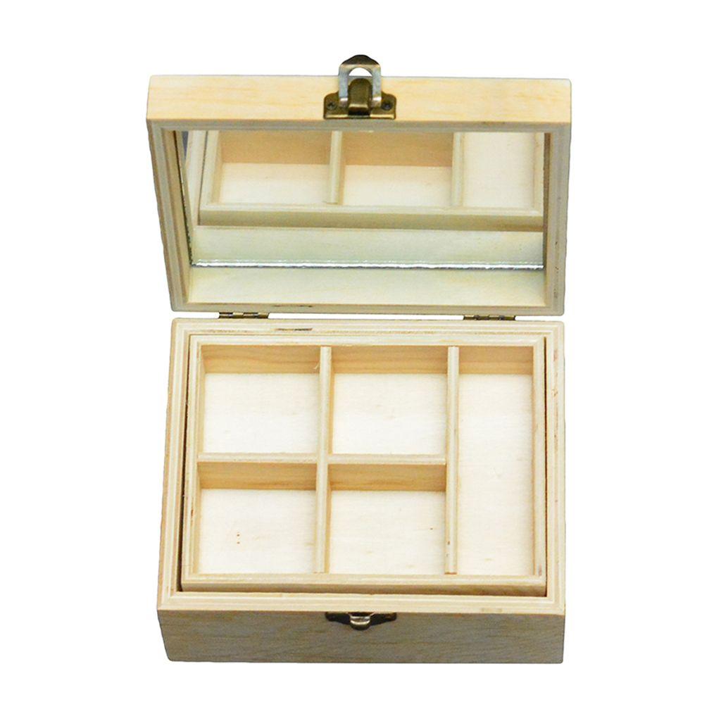 Wholesale Wooden Jewelry Box Storage Box Make Up Holder Case