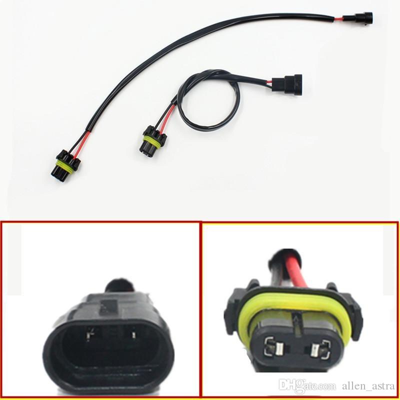2pcs Car-styling Auto 9006 HB4 Wire Harness HID Xenon Power Cable Connector on