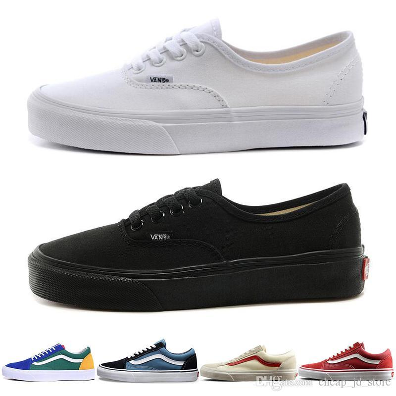 Low Casual Vans Mens Authentic Original Old Shoes For Skool Women qgBwgXx