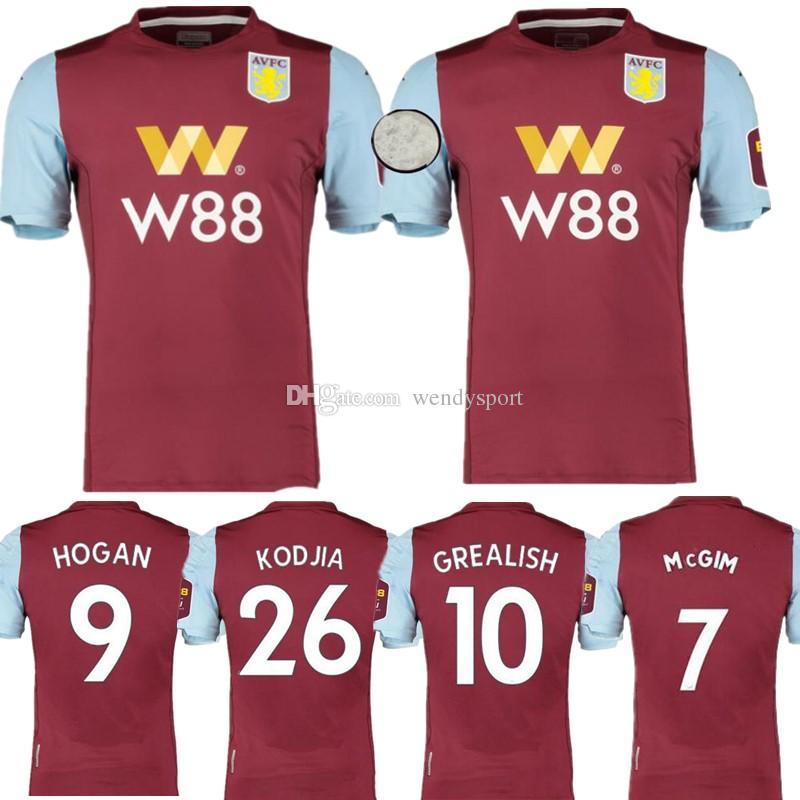 info for c0a6d 4ca28 19 20 Aston Villa soccer jerseys 2019 2020 home away WESLEY GREALISH KODJA  EL GHAZI CHESTER McGinn TARGETT Men Kids set football shirts
