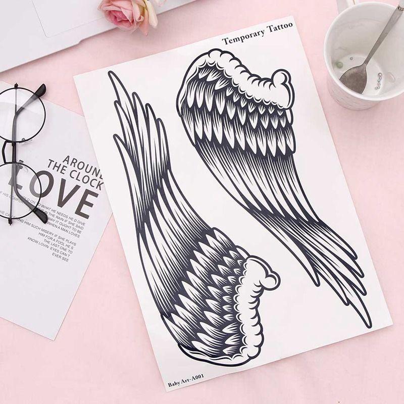 Angel Wings Arm Leg Body Art Waterproof Temporary Tattoo Sticker Women's Make Up Temporary Tattoos