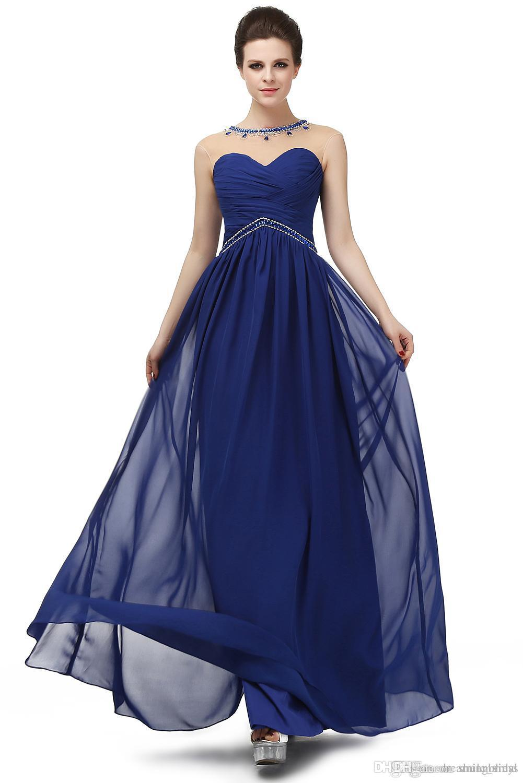 Navy Blue Empire Waist Dress