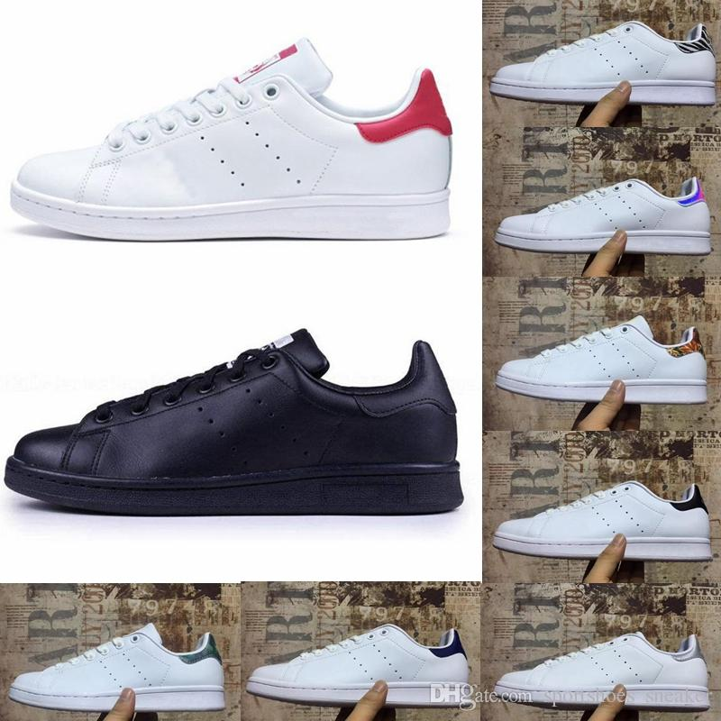 100% authentic 0b5bf 350a9 Stan Smith Shoes Fashion Brand Smith Sneakers Stan Smith White Leather Men  Women Sport Jogging Sneakers Classic Flats Casual Shoes Size36-44
