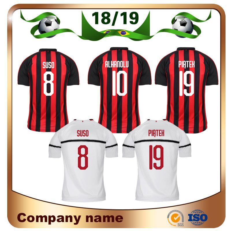 2019 2018  19 PIATEK Soccer Jersey 18 19 Home  9 HIGUAIN Soccer Shirt  CALHANOGLU SUSO CUTRONE BORINI BONAVENTURA Away Football Uniforms From  Lxx199198 25383760c
