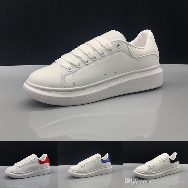 quality design 95440 5bff0 Mqueen Stan Smith causal Shoes Mens Women Lace Up Designer Comfort Pretty  Casual Leather Shoes Extremely Durable Stability Sports Sneakers