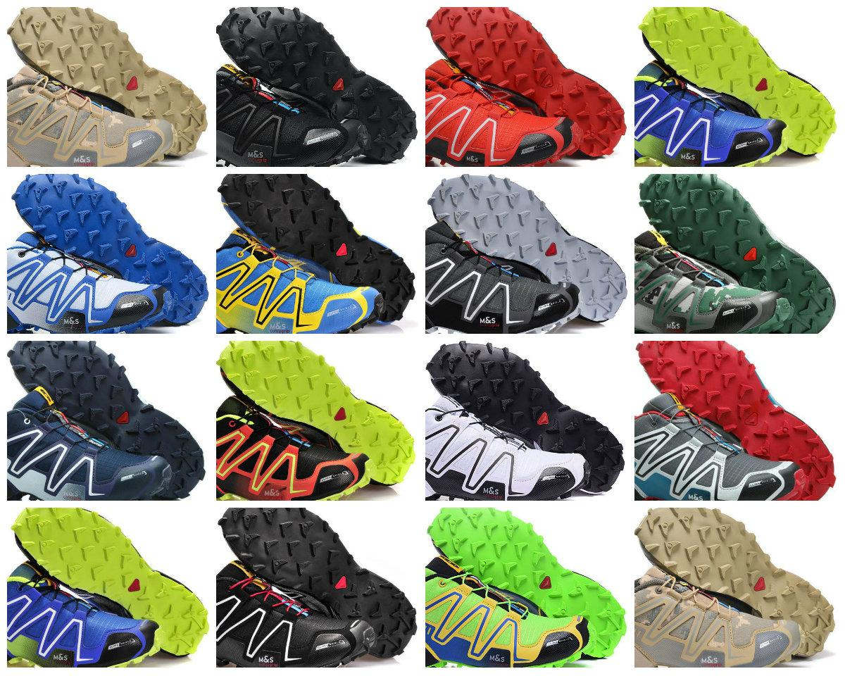 New Listed Salomon Speed Cross 3 Black Red Men Sports Shoes Athletic mens Speed Crosspeed Outdoor Hiking Climbing Shoes Eur Size 40 46