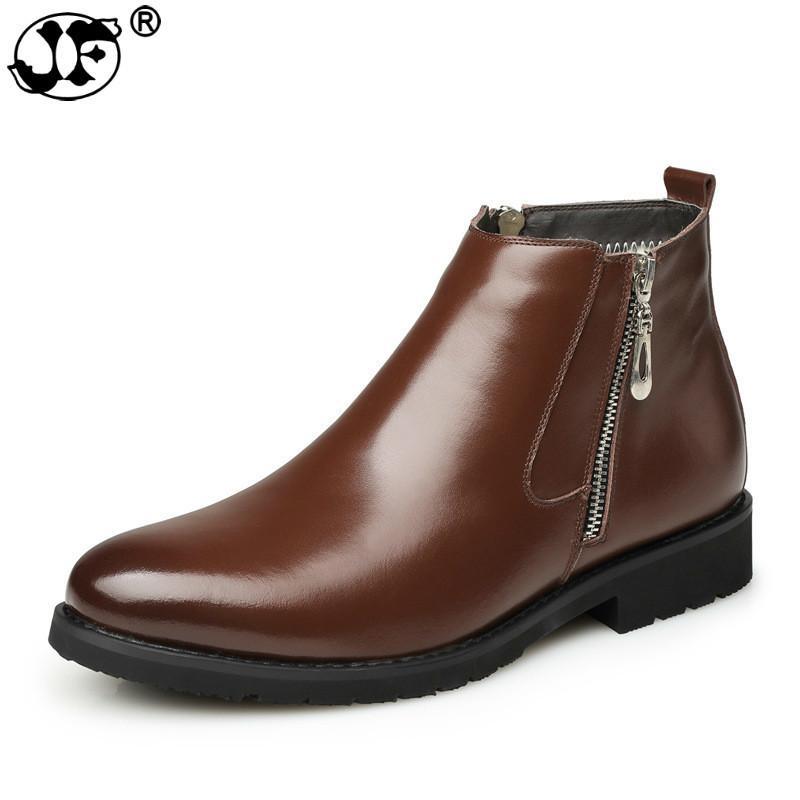 958c5b680b Compre Botas Chelsea Dos Homens Da Moda Masculina Tornozelo Sapatos De  Couro Da Marca De Luxo Homens Botas Sapatos De Vestido De Festa De  Casamento ...