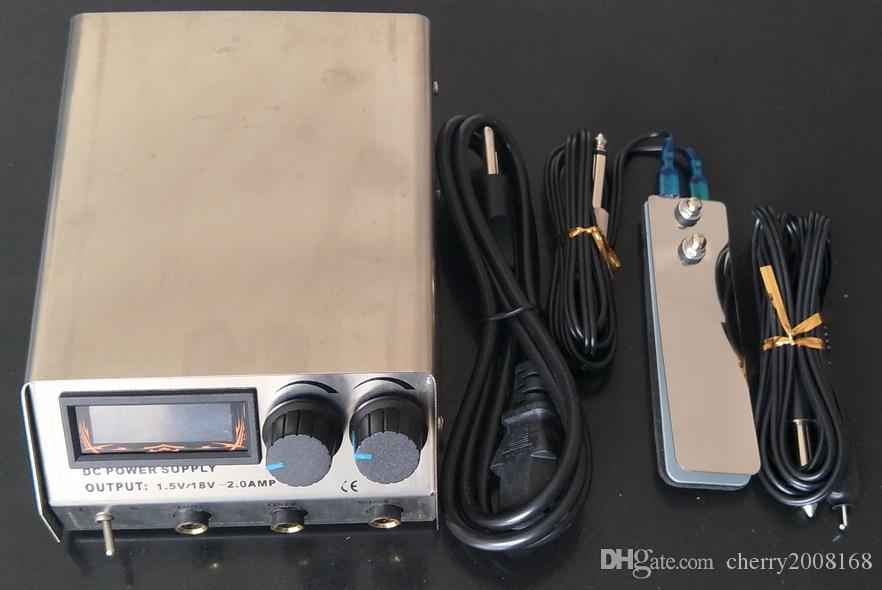 Tattoo Power Supply Dual Digital Stainless