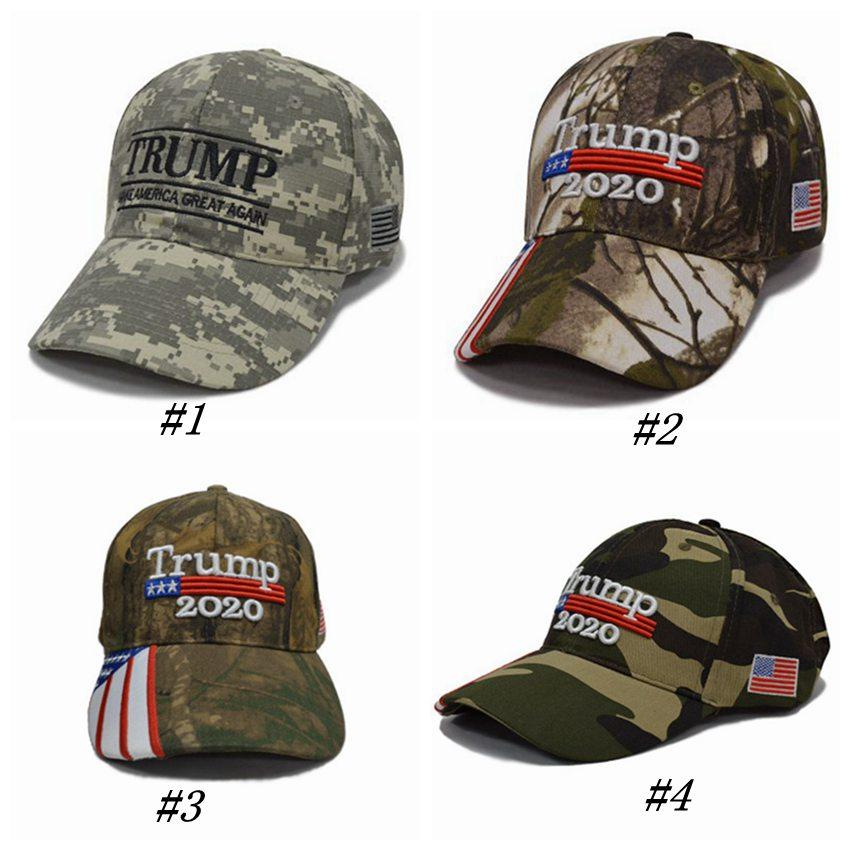 Camouflage Donald Trump Hats USA Flag Baseball Cap Make Keep America Great 2020 Hats Embroidery Snapback Sport Cap ZZA1278 30PCS