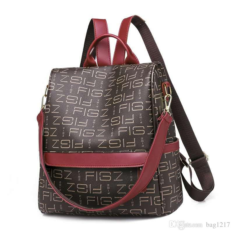 13b9a6335 2019 New Fashion Multi Function Backpack Men And Women Korean Version Of  Casual Wild Print Shoulder Diagonal Small Fresh Ogio Backpack Rucksacks  From ...