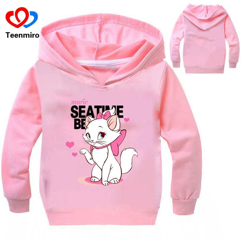 f08d2c4dc189f Spring New Cartoon Children Cat Hoodies Kids Baby Sweatshirt Coat Boys  Girls Long Sleeve Cotton TShirts Toddler Outerwear Shirts