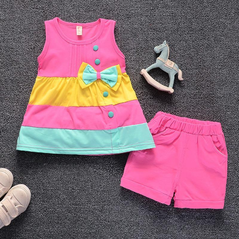 17ff68419 Mochenchengtoddler Girl Clothing Sets Summer Style Sleeveless Girls ...