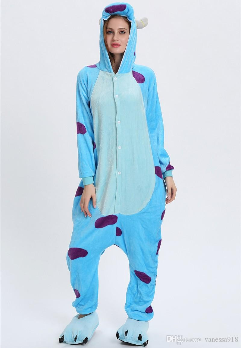 Fleece children Onesie Adult Pajamas Cartoon Sleepwear Costume Women men Cosplay Winter Warm Kigurumi Pyjama KD-067