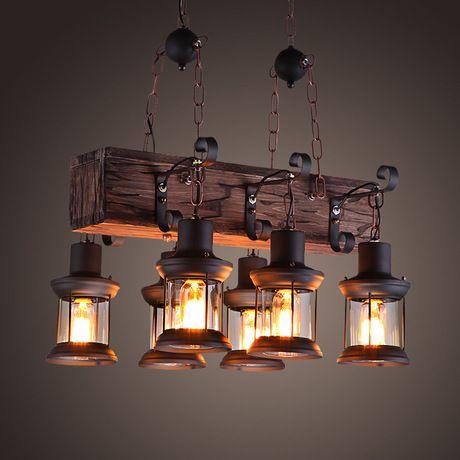 Vintage Loft Pendant Light Wrought Iron Glass Shade Pendant Lamp Kitchen  Light Hanging Ceiling Lamp Abajour LLFA Glass Pendant Lamp Shades Glass  Light ...