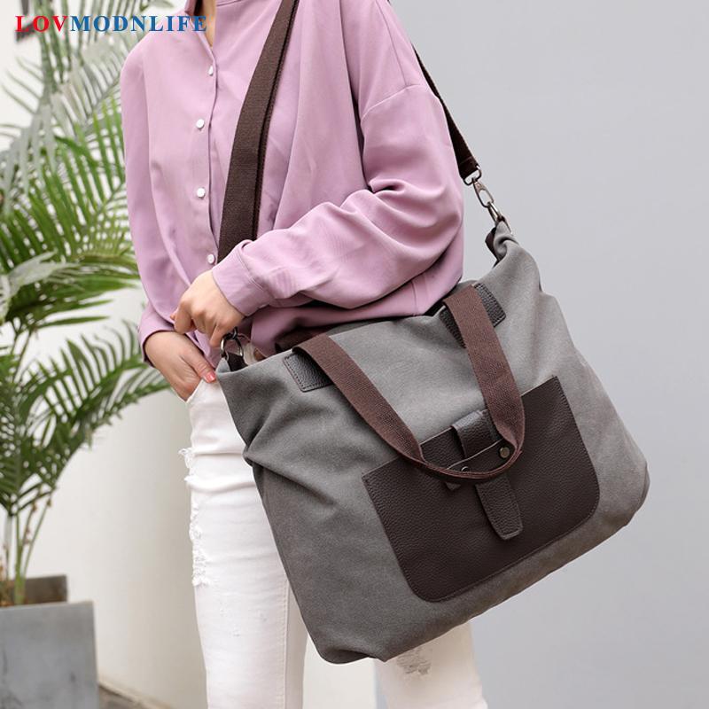 bfdb5492bc2a Fashion Women s Shoulder Bag Casual Tote Big Ladies Handbags Canvas Large  Black Messenger Crossbody Bags For Women High Capacity