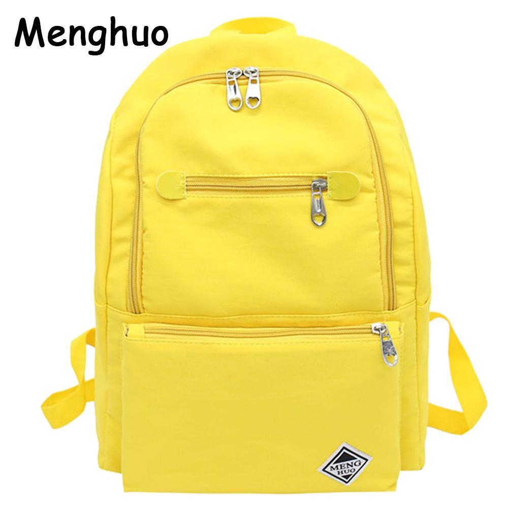 2019 FashionMenghuo New Women Backpacks For School Teenagers Girls School  Bags Ladies Cotton Fabric Canvas Backpack Female Bookbag Mochilas Leather  Backpack ... b66e97e9ccf8a