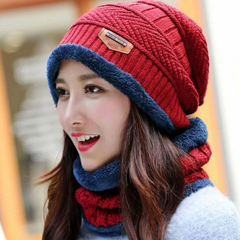 aade07017510dd 2019 Neck Warmer Winter Scarf Hat Set Knit Cap Scarf Cap Winter Hats For  Men Women Knitted Hat Men Beanie Knit Skullies Beanies From Xailiang, ...
